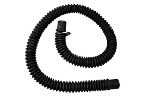 CORRUGATED BREATHING TUBES - BLACK RUBBER (WITHOUT MOUNTS)